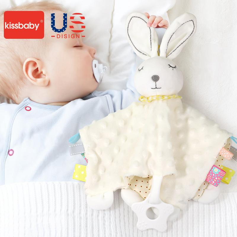 kissbaby宝宝安抚巾可入口婴儿玩具