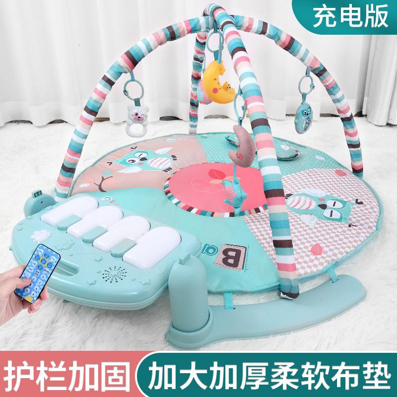 脚踏钢琴婴儿玩具0-1岁器12健身架