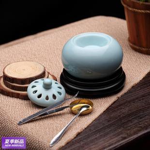 电子熏香炉电子香熏炉 电香炉定时调温陶瓷沉香粉精油檀香薰香炉