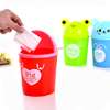 Mini Desktop trash can lid trumpet fashion animal cartoon storage barrels creative debris bucket cleaning bucket