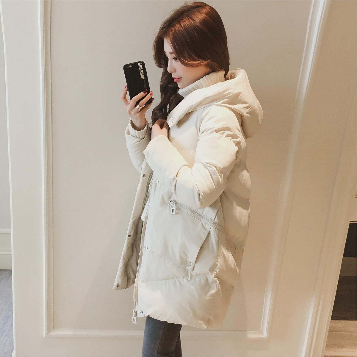 外套女2018新款女装工装女式棉袄面包服ins加厚羽绒棉服中长款