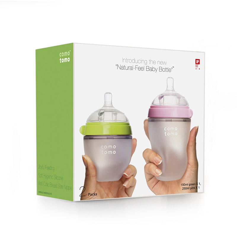 韓國可麼多麼comotomo嬰兒矽膠奶瓶獨立裝 防摔防脹氣 寶寶奶瓶