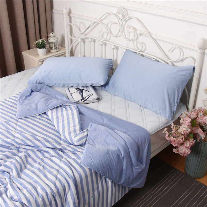 Japanese black technology cool feeling quilt summer air conditioning cool feeling summer quilt cool comfortable single and Double Blanket thin quilt
