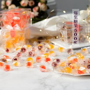 夏目友人爆浆小夹心果汁网红软糖