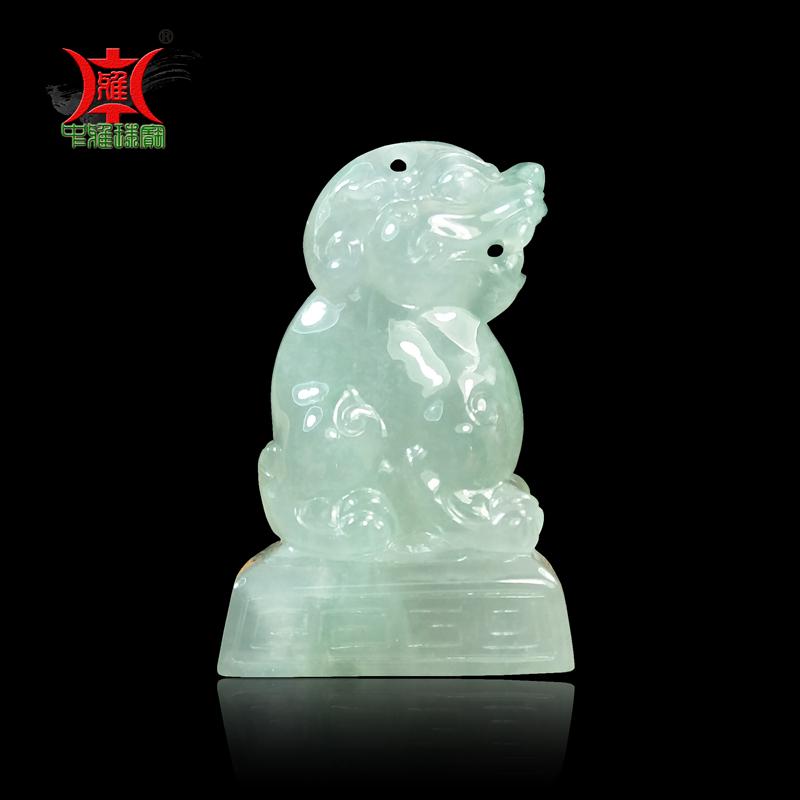 Zhongya jewelry, natural jade, jadeite, seal, pendant, private seal, pendant, jewelry, pendulum, alternative jade decoration gift