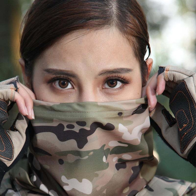酋长MC迷彩战术围脖男女户外防风防晒钓鱼快干脖套特种兵蟒纹面罩