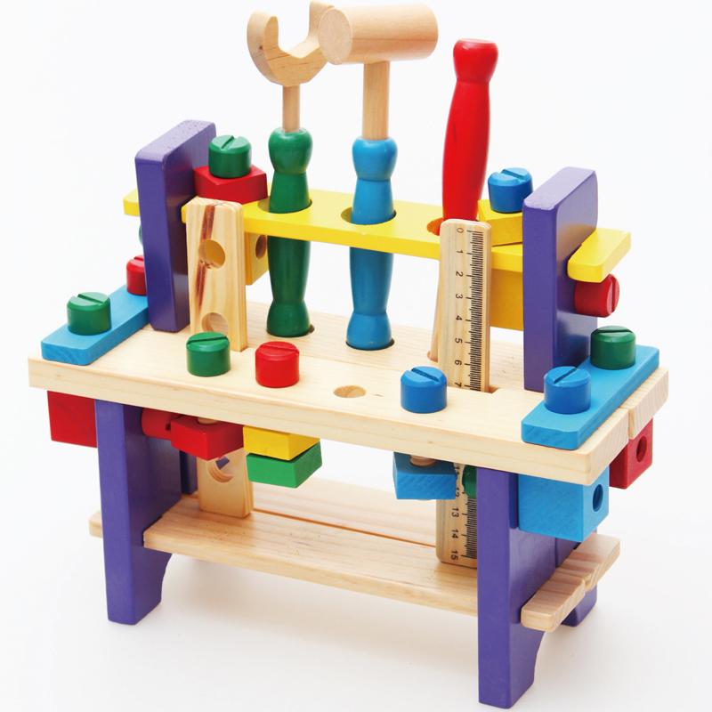 拧螺丝螺母组合拆装工具台宝宝玩具