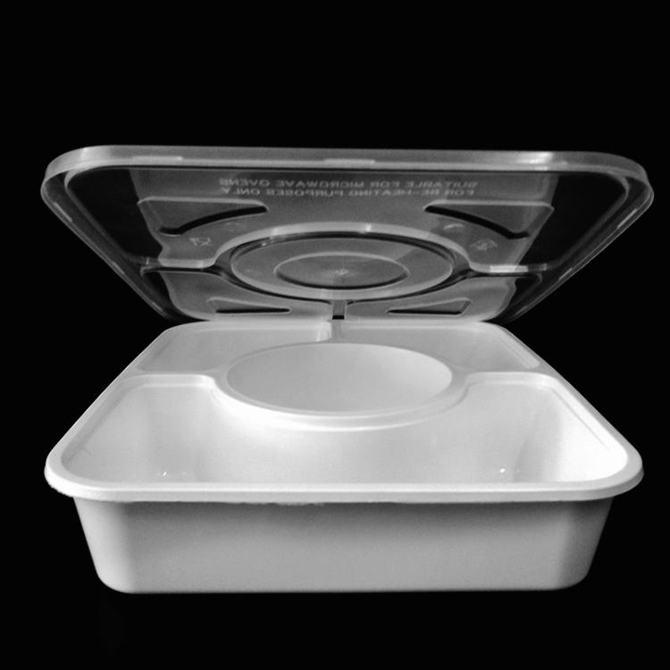 一次性15375pp餐盒 适用于快餐食品包装盒 航空餐饮包装盒
