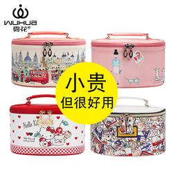 化妆包女网红大容量ins风超火化妆品收纳包盒韩国便携化妆箱手提