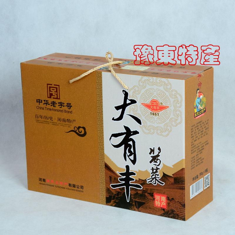 河南商丘特产/大有丰酱菜180克*6瓶礼盒装6种口味咸菜下饭菜包邮