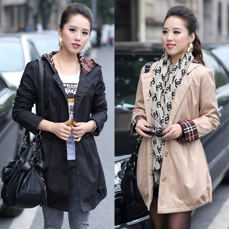 3XL大码女装风衣外套Large size women's trench coat