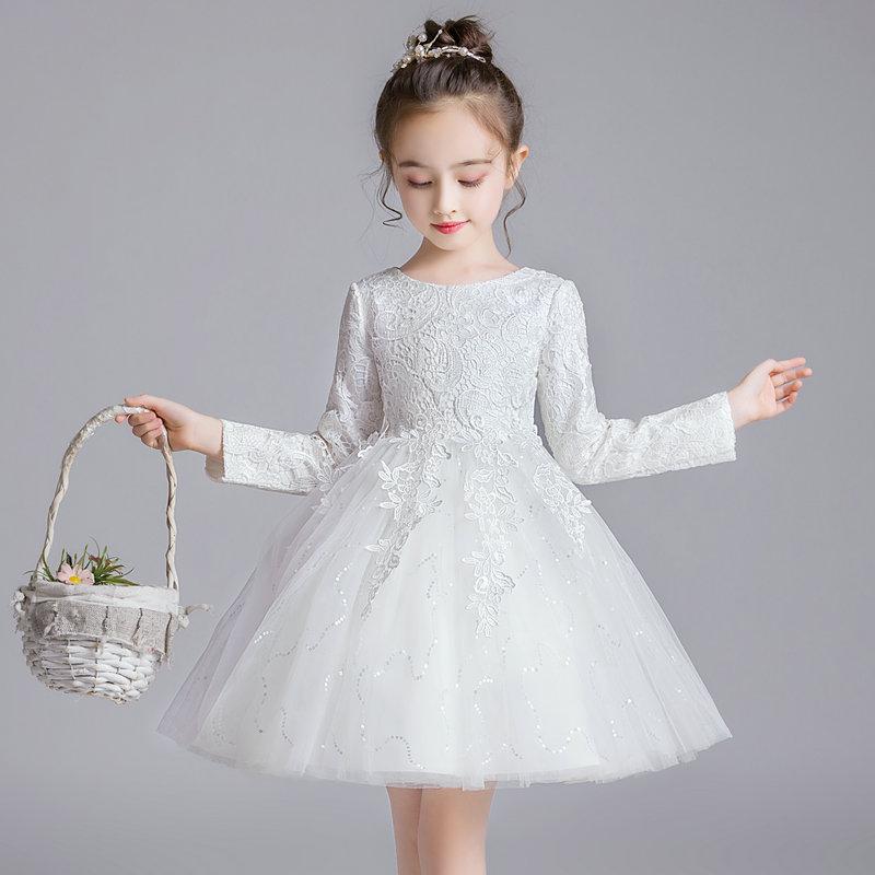 春秋冬儿童公主裙蓬蓬裙白纱裙子