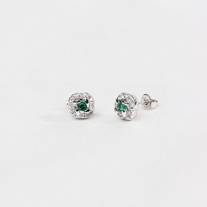 Ear ring jewelry earrings personality classic Korean new fashion emerald wechat zircon gift ear jewelry temperament
