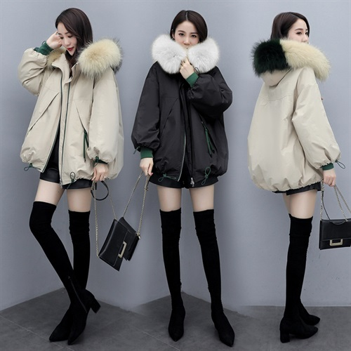 Winter Parka cotton padded clothes 2020 new Korean version of mid long woolen collar cotton padded clothes womens autumn loose coat small