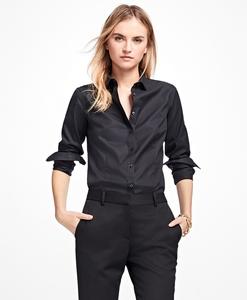 领10元券购买美国代购 Brooks Brothers/布克兄弟 女士修身免熨衬衫 专柜1818