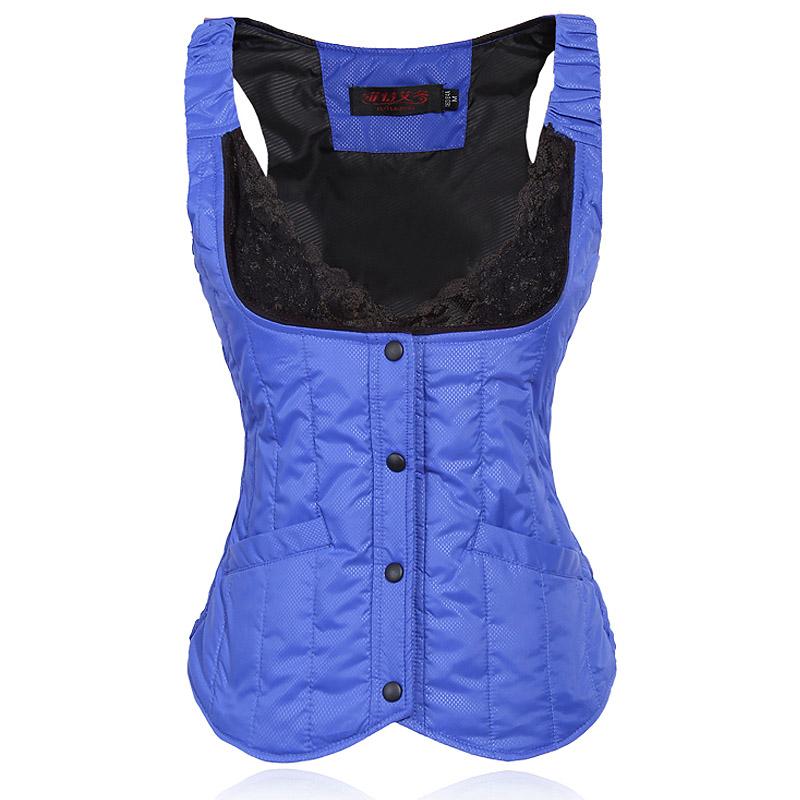 Down vest womens short slim light down jacket waistcoat winter warm bladder suspender womens inner jacket