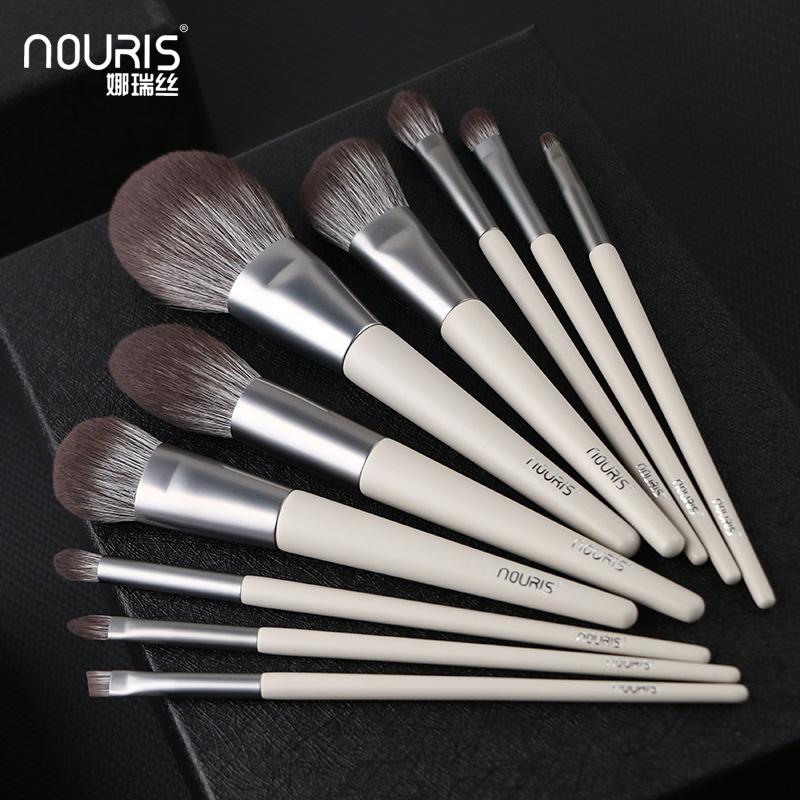 娜瑞丝春沐11本の化粧ブラシセット初心者専用工具セット散布アイシャドウブラシは超柔らかいです。