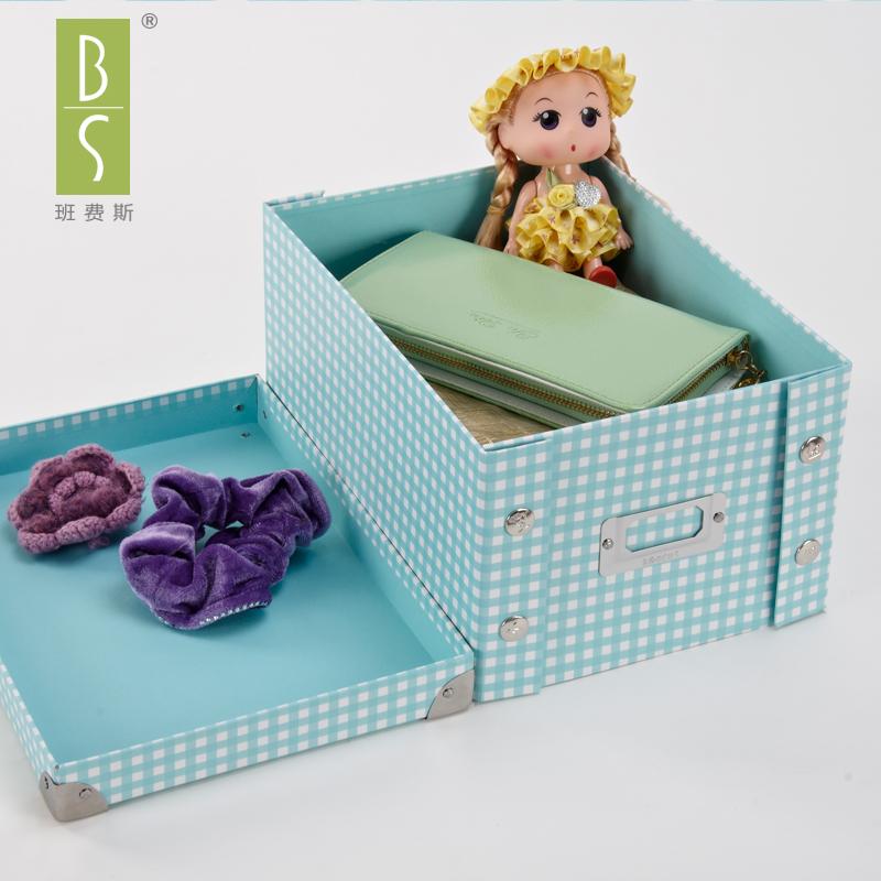 衣服整理箱玩具儲物箱辦公文具收納盒車用紙質收納箱折疊紙盒宜家
