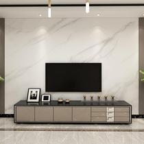 现代简约大气电视背景墙壁纸仿大理石客厅墙布直播间墙纸定制壁画