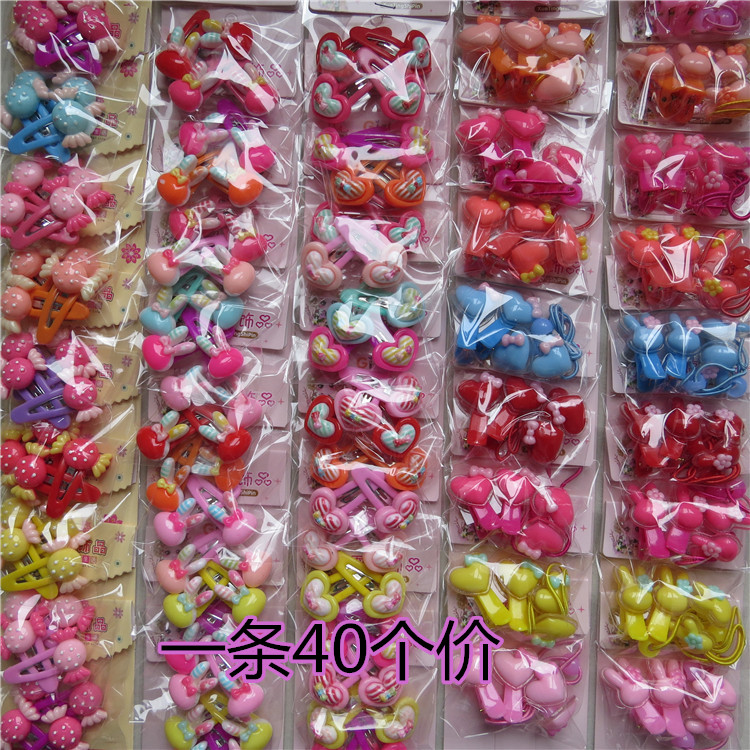 40 price childrens hair rope hair circle childrens hair clip babys hair ornament girls hair rope leather band headdress full of mail