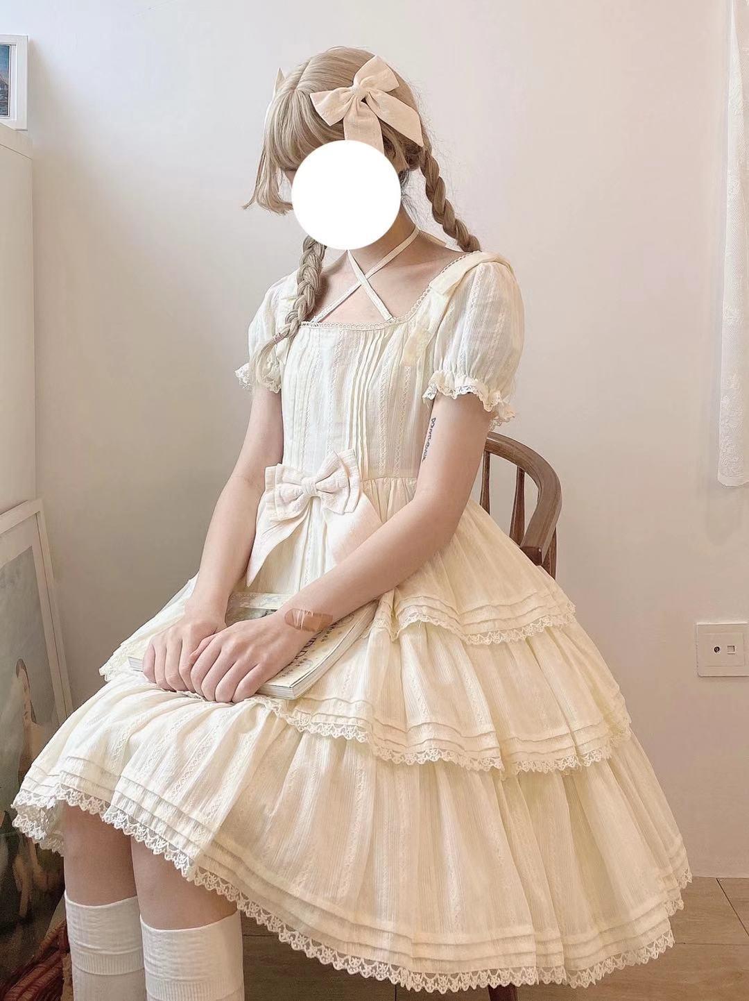 玻璃花信  莉莉小姐op洛丽塔轻lo甜美连衣裙 三团尾款开到6月30日
