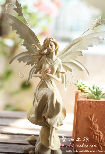 Торговля стиль сада Ангел украшения, Винтаж Корейский Корея мебель декора дома фея цветок фея