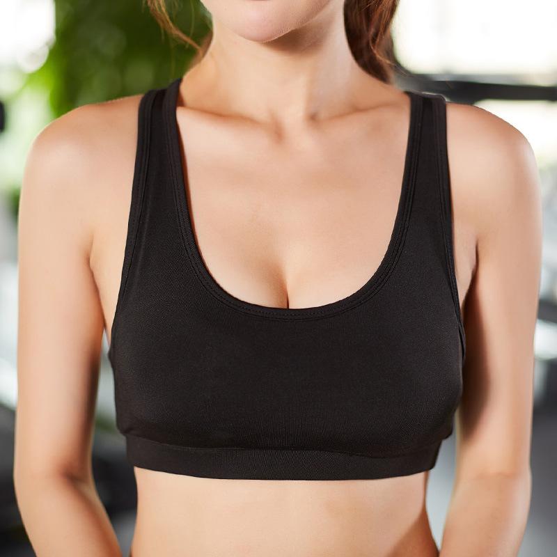 跑步健身瑜伽背心式内衣运动文胸训练瑜伽睡眠无痕无钢圈瑜伽文胸