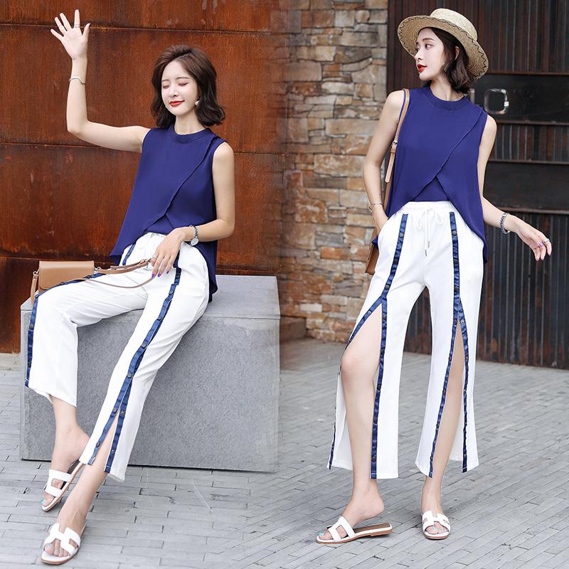 质优雅纯色套装/套裙2018夏季两件套KYYBBC P120