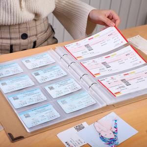 电影票火车票演唱会旅行门票收纳册
