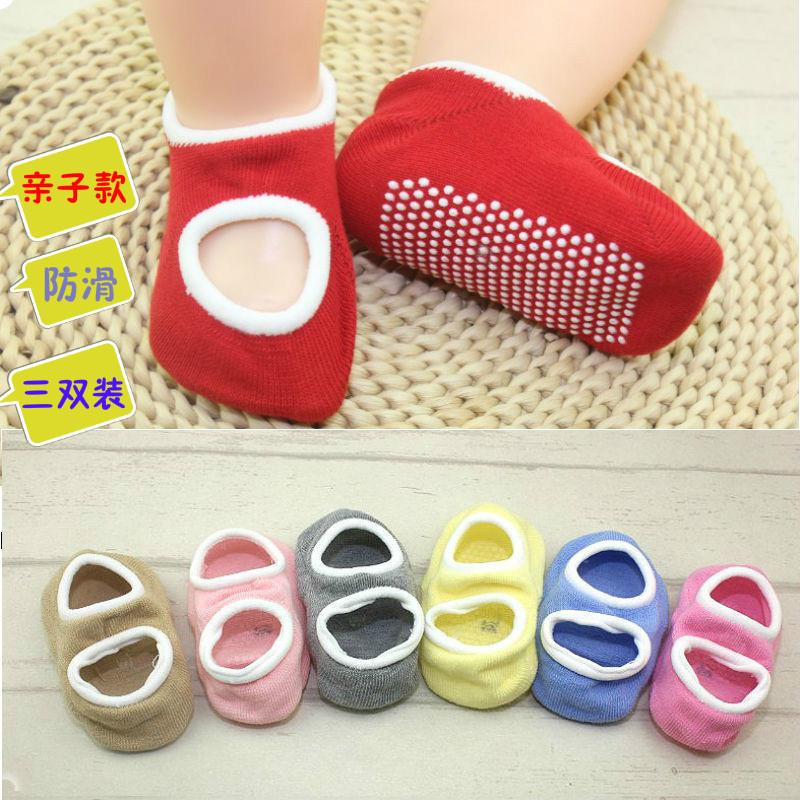 夏季宝宝袜子 纯棉松口可爱透气婴儿防滑底地板袜 儿童袜套亲子袜