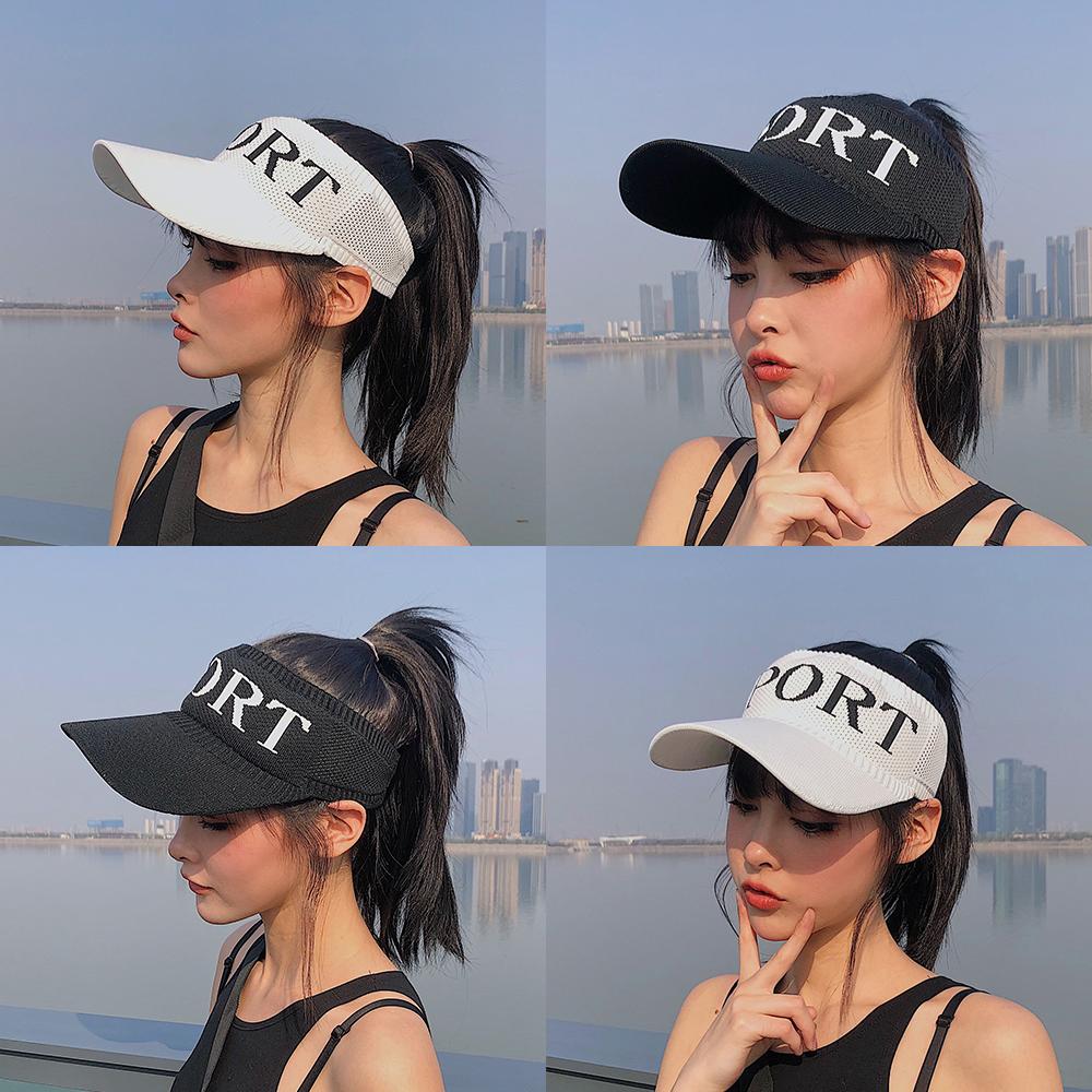 帽子女夏天空顶鸭舌帽无顶遮阳帽防晒男棒球帽太阳帽韩版运动帽潮