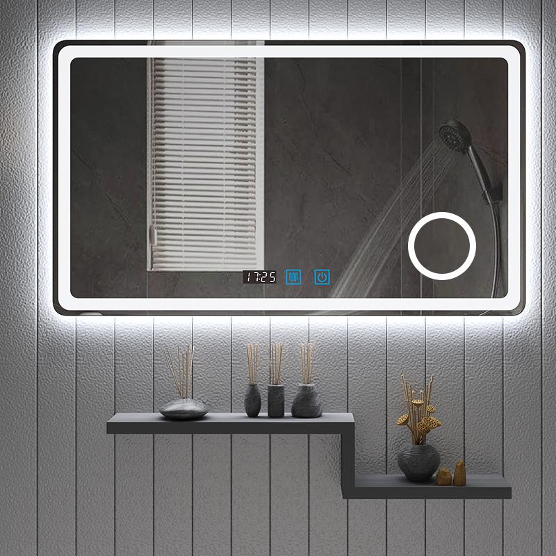 智能浴室镜壁挂墙触摸屏LED化妆镜洗手间卫生间镜子蓝牙防雾发光