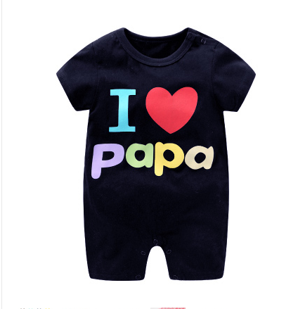 2017 new baby clothes baby newborn baby one-piece short sleeve Khaki clothes climbing clothes mens and womens one-piece clothes