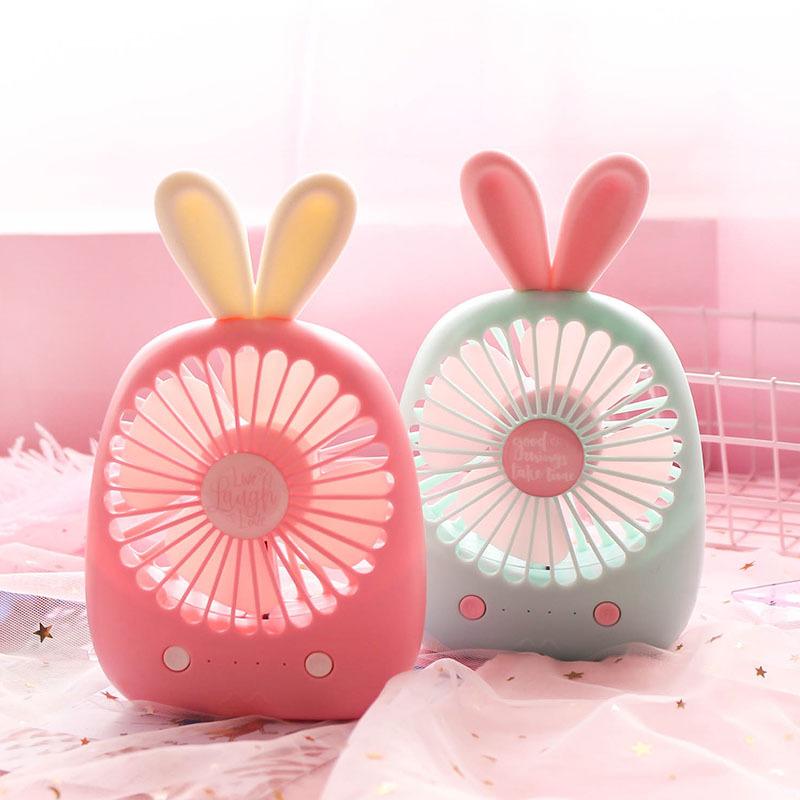 春风十里USB风扇迷你便携台式电扇可充电蜜糖生活造型蓄小电风扇