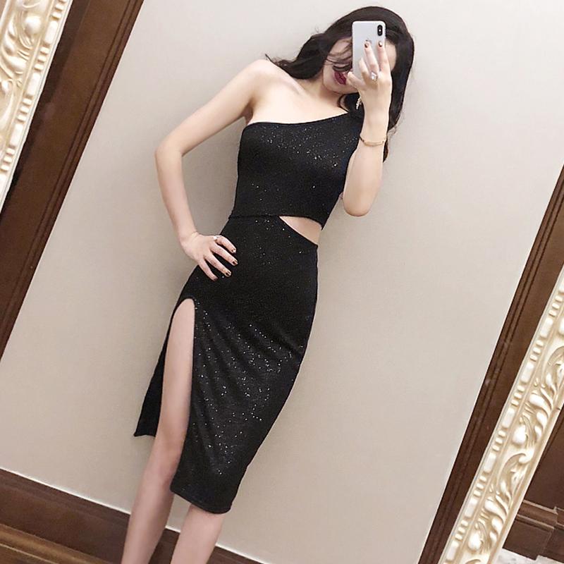 不规则连衣裙夏