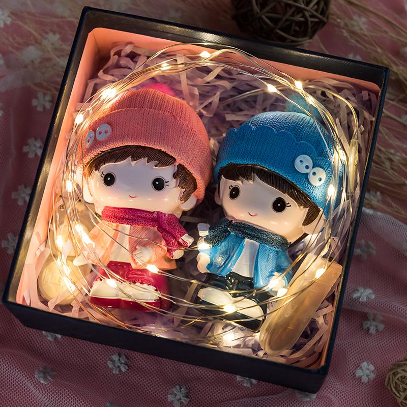 表白送男朋友的礼物 特别 创意浪漫女友闺蜜生日情侣娃娃结婚