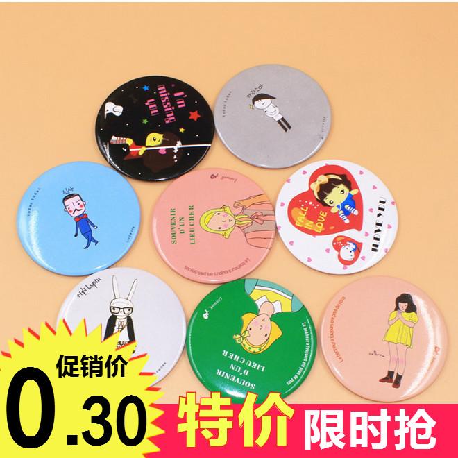 Корейская версия Творческий милый мультфильм женский мини со складыванием макияж зеркало небольшой зеркало Красота ребенка зеркало Портативный с зеркало круглый зеркало