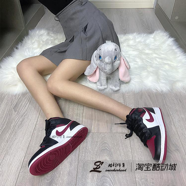Air Jordan 1 Mid AJ1 黑红脚趾 黑白红 黑红钩 男女鞋554725-066
