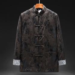 新款冬季唐装男棉袄  中式中老年冬装男款棉衣服  爸爸装长袖外套