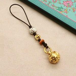 创意个性中国风手机链挂件小铃铛古风挂坠可爱女男包挂车挂钥匙挂