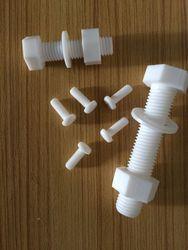 非标定制耐酸碱聚四氟乙烯螺丝 耐高温铁氟龙螺钉 耐腐PTFE螺栓
