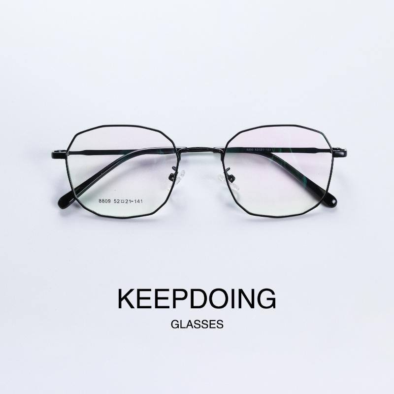 不规则方框近视眼镜框 男个性舒适可配度数眼镜 女眼睛全框近视镜