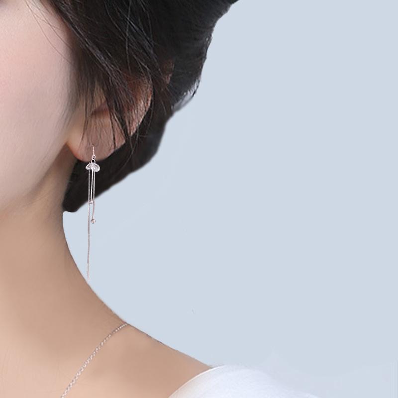 满14元可用2元优惠券s925纯银耳线气质女韩国个性耳环