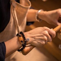 观照原创小叶紫檀蜜蜡手串简约手链