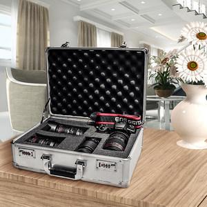 摄影器材箱单反相机防潮箱 干燥箱收藏家镜头箱密码锁铝箱装备箱