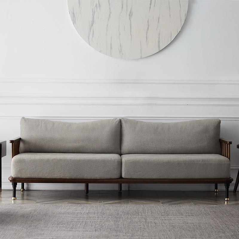 北欧实木沙发现代简约小户型沙发组合家用客厅家具轻奢布艺沙发11月29日最新优惠
