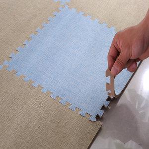 泡沫地垫拼接地毯卧室满铺可爱房间大号方块客厅家用棉麻榻榻米垫