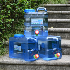 自驾游储水桶PC户外带龙头矿泉纯净水桶车载家用食品级塑料饮水桶图片