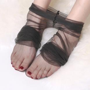 一线裆全透明隐形无痕脚尖性感连裤 袜情趣 浅黑色0D超薄丝袜女薄款