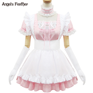 Angel s Feather limited Super Meng Japanese sweetheart pink dress maid uniforms maid outfit theme